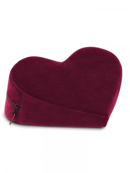 Liberator Heart Wedge: Liebeskissen, bordeaux