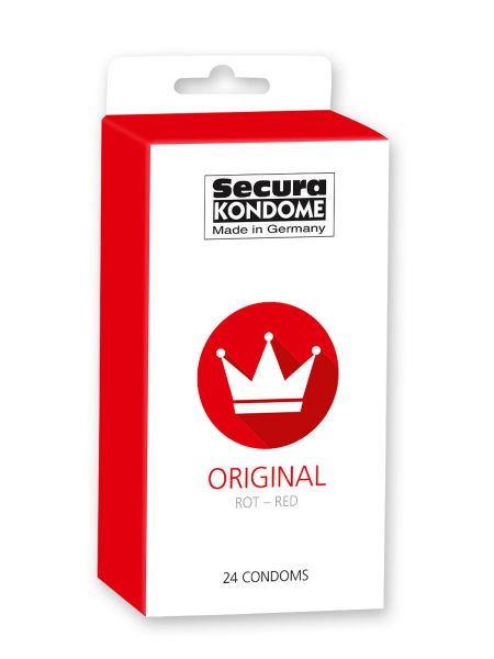 Secura Original Red: Kondome, 24er Pack rot