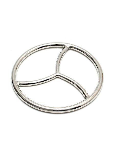 Tripple Shibari Ring: Edelstahl-Bondage-Ring, silber