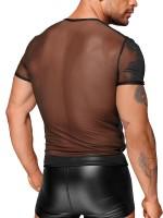 Noir Handmade: Netz-Shirt H055, schwarz