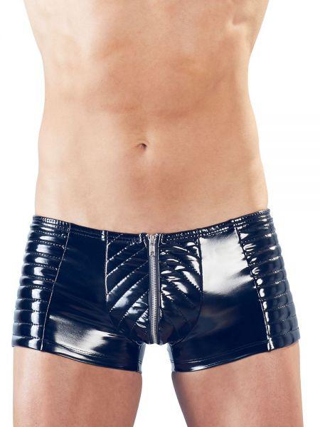 Herren-Lack-Pants, schwarz