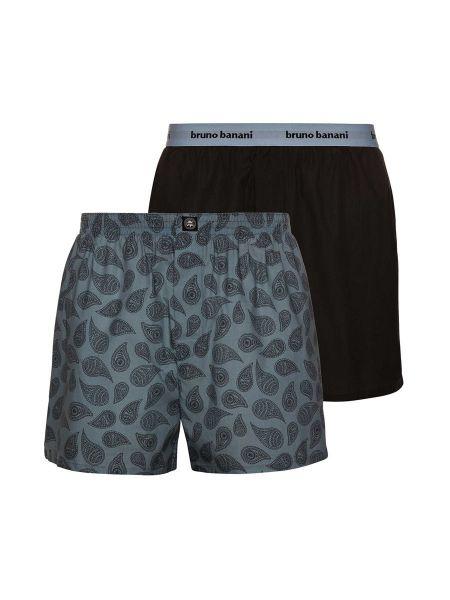 Bruno Banani Outlook Men: Boxershort 2er Pack, anthrazit/anthrazit-grau print