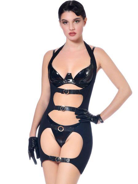 Patrice Catanzaro Lolita: Ouvert-Minikleid, schwarz
