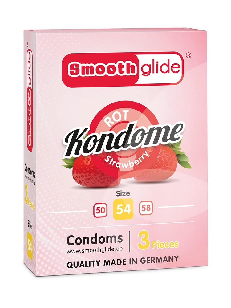 Smoothglide: Kondome 3er Pack, rot