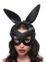 Master Series Bad Bunny: Leder-Kopfmaske, schwarz
