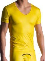MANSTORE M816: V-Neck-Shirt, gelb