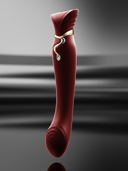 Zalo Queen: G-Punkt-/Pulse-Wave-Vibrator, rot