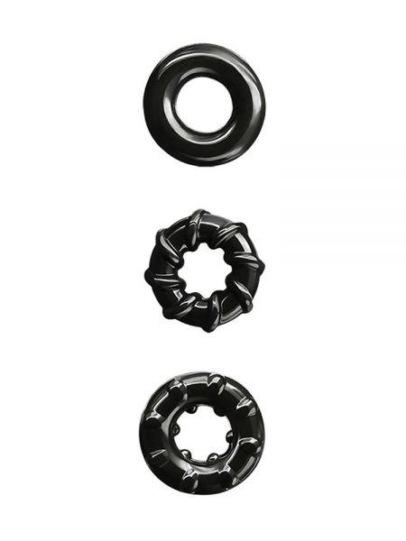 Renegade Dyno Rings: Cockring 3er Set, schwarz