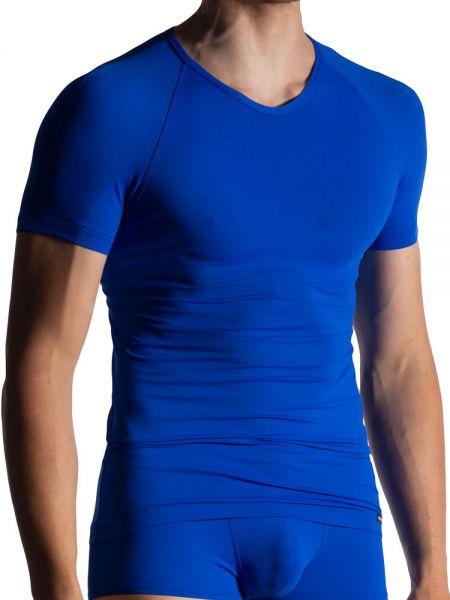 MANSTORE M800: V-Neck-Shirt, blau