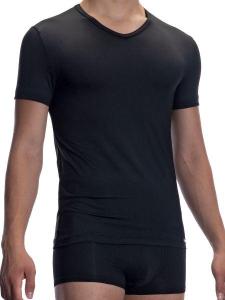 Olaf Benz RED2059: V-Neck-Shirt, schwarz