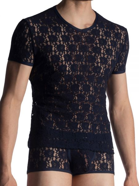 MANSTORE M853: V-Neck-Shirt, night