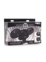 Master Series Thunder Stroke: Doppel-Masturbator Vibrator-Aufsatz, schwarz