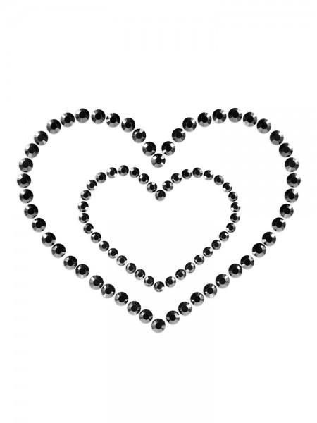Bijoux Indiscrets Mimi Heart: Nippelsticker, schwarz