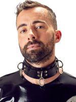 Latex-Halsfessel, schwarz