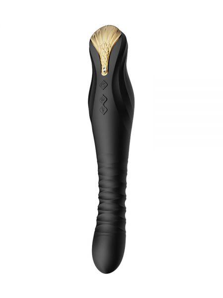 Zalo King Vibrating Thruster: Stoßender Vibrator, schwarz