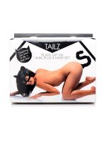 Tailz Kitty Mask and Tail Kit: Maske und Analplug Katze, schwarz