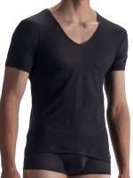 Olaf Benz RED1864: V-Neck-Shirt, schwarz