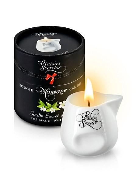 Plaisirs Secrets: Massagekerze White Tea (80ml)