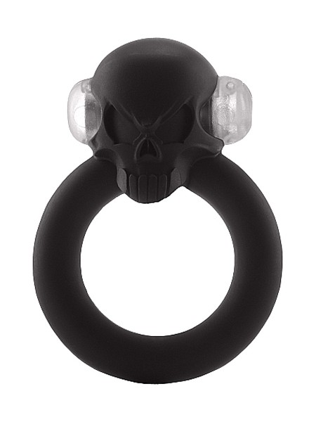 Shots Toys Shadow Skull Ring: Vibro-Penisring, schwarz