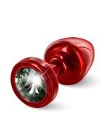 Diogol Buttplug Anni Round: Analplug (25mm), rot/schwarz