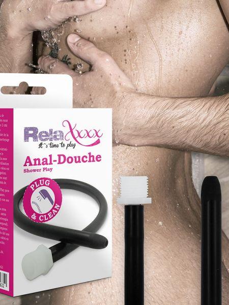 RelaXxxx Anal-Dusche Shower Play, schwarz