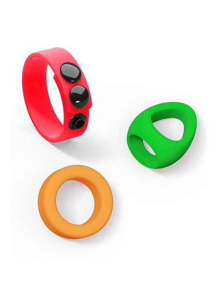 Love to Love Neon Ring Kit: Cockring-Set, bunt