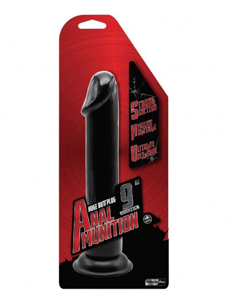 Anal Munition: Analdildo, schwarz