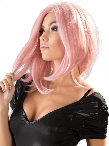 Perücke Bob-Schnitt, rosa