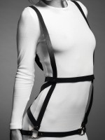 Bijoux Indiscrets Maze: H-Multi-Harness, schwarz
