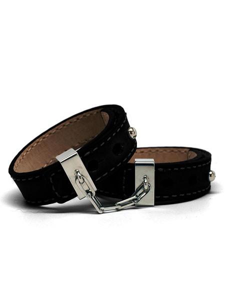 Crave Leather Cuffs, schwarz