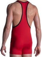MANSTORE M2103: Wrestler Body, rot/schwarz