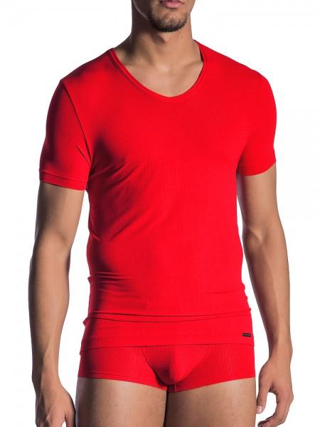 Olaf Benz RED1802: V-Neck-Shirt, rot