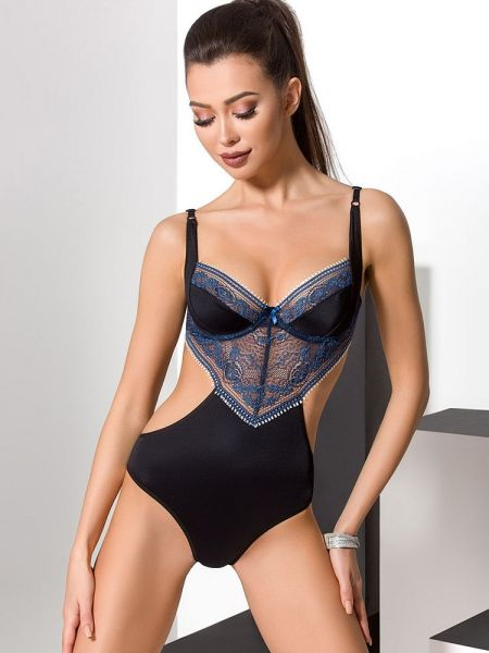 Passion Gisele: Body, schwarz/blau