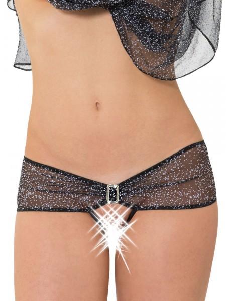 Eros Veneziani Annabella: Ouvert-Stringpanty, schwarz