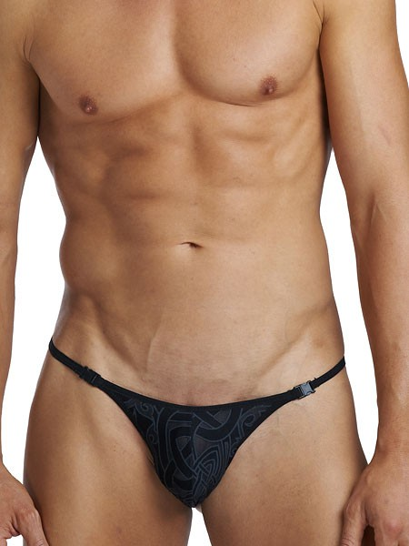 L´Homme Invisible Devoré Tattoo: Stripstring, schwarz