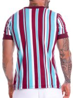 JOR Stripes: T-Shirt, weinrot