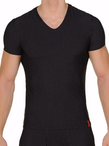 Bruno Banani Straight Line: V-Shirt, schwarz/weiß