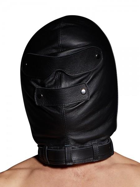 Leder-Isolationsmaske, schwarz