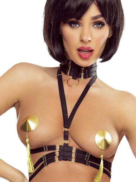 Provocative PR1630: Harness-Top-Set, schwarz