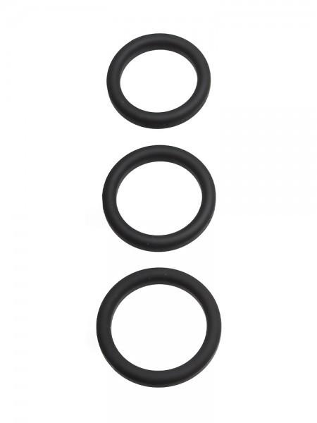 Perfect Fit Xact-Fit 3-Ring-Kit S-M: Penisringe-Set, schwarz