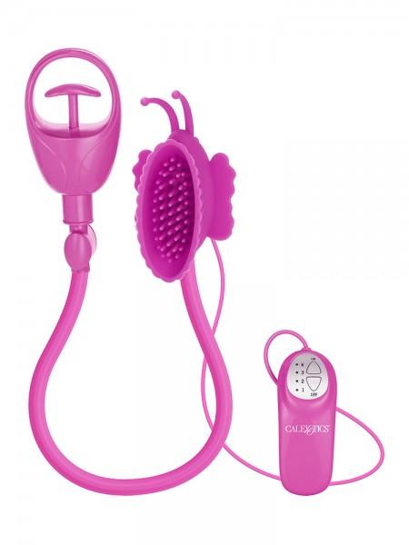 Butterfly Clitoral Pump: Vibrierender Klitoris-Sauger, pink