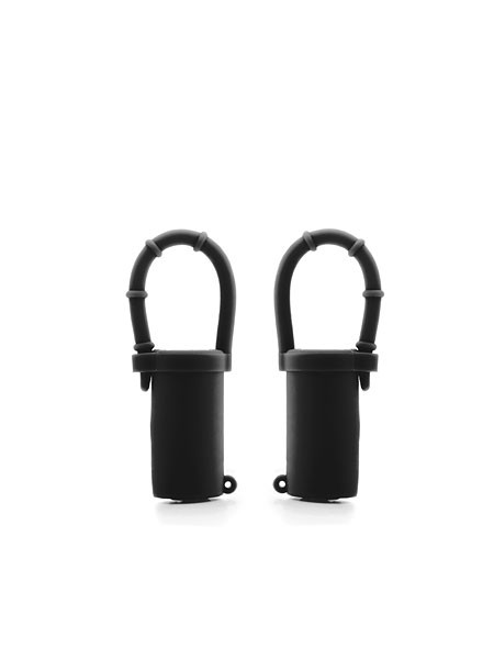 Vibrating Nipple Belts: Nippelvibratoren, schwarz
