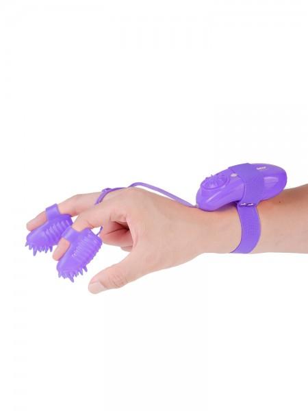 Neon Magic Touch: Fingervibrator, lila