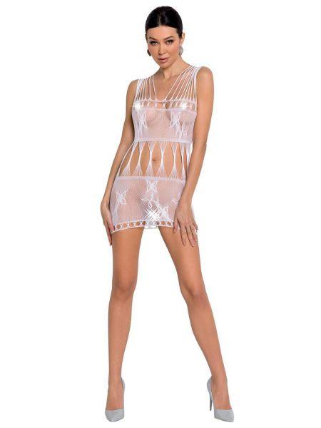 Passion BS090: Netz-Minikleid, weiß