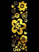 GoldSin Jewels: Flower Explosion Bodysticker, gold