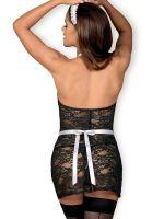 Obsessive Servgirl-Kostüm, schwarz/weiß