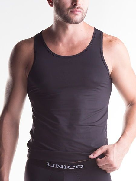 Unico Clasicos Micro: Sportshirt, schwarz
