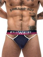 Male Power French Terry: Cutout Moonshine Jockbrief, navy