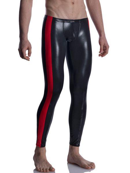 MANSTORE M2004: Bungee Leggings, schwarz/rot