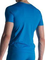 Olaf Benz RED1818: V-Neck-Shirt, blau